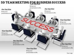 1113 3d Team Meeting For Business Success Ppt Graphics Icons Powerpoint