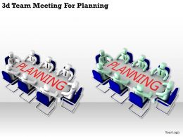1113 3d Team Meeting For Planning Ppt Graphics Icons Powerpoint