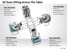 1113 3d Team Sitting Across The Table Ppt Graphics Icons Powerpoint