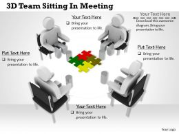 1113 3D Team Sitting In Meeting Ppt Graphics Icons Powerpoint