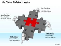 1113 3d Team Solving Puzzles Ppt Graphics Icons Powerpoint