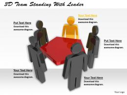 1113 3D Team Standing With Leader Ppt Graphics Icons Powerpoint