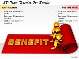 1113 3D Team Together For Benefit Ppt Graphics Icons Powerpoint