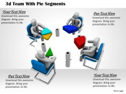 1113 3d Team With Pie Segments Ppt Graphics Icons Powerpoint
