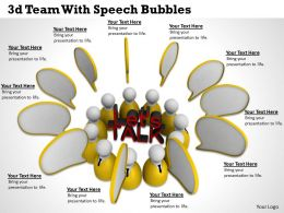 1113 3d Team With Speech Bubbles Ppt Graphics Icons Powerpoint