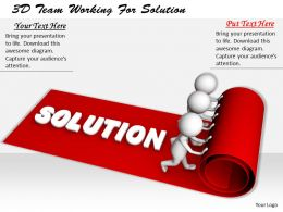1113 3D Team Working For Solution Ppt Graphics Icons Powerpoint