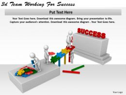 1113 3d Team Working For Success Ppt Graphics Icons Powerpoint