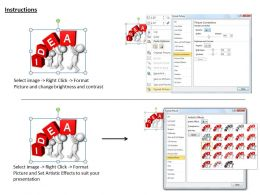 1113 3D Team Working On An Idea Ppt Graphics Icons Powerpoint