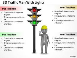 1113 3D Traffic Man With Lights Ppt Graphics Icons Powerpoint