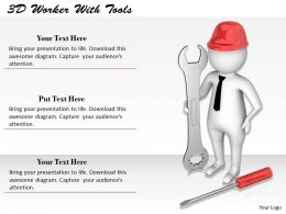 1113 3D Worker With Tools Ppt Graphics Icons Powerpoint