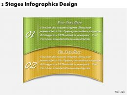 1113 Business Ppt diagram 2 Stages Infographics Design Powerpoint Template