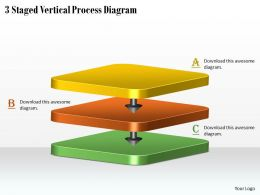 1113 Business Ppt Diagram 3 Staged Vertical Process Diagram Powerpoint Template
