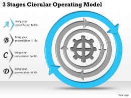 1113 Business Ppt diagram 3 Stages Circular Operating Model Powerpoint Template