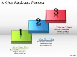 1113 Business Ppt Diagram 3 Step Business Process Powerpoint Template