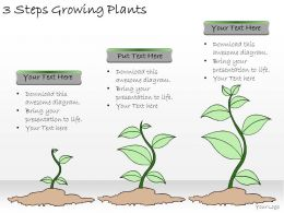 1113 Business Ppt Diagram 3 Steps Growing Plants Powerpoint Template