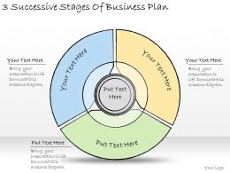 1113 Business Ppt Diagram 3 Successive Stages Of Business Plan Powerpoint Template