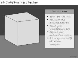1113 Business Ppt Diagram 3d Cube Business Design Powerpoint Template