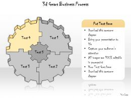 1113 Business Ppt Diagram 3d Gears Business Process Powerpoint Template
