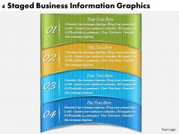 1113 Business Ppt diagram 4 Staged Business Information Graphics Powerpoint Template