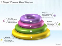 1113 Business Ppt Diagram 4 Staged Designer Rings Diagram Powerpoint Template
