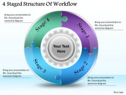 1113_business_ppt_diagram_4_staged_structure_of_workflow_powerpoint_template_Slide01