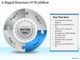 1113 Business Ppt diagram 4 Staged Structure Of Workflow Powerpoint Template