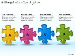 1113 Business Ppt diagram 4 Staged Workflow System Powerpoint Template
