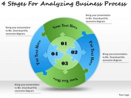 1113 Business Ppt diagram 4 Stages For Analyzing Business Process Powerpoint Template