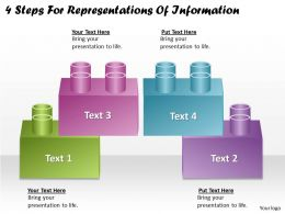 1113 Business Ppt diagram 4 Steps For Representations Of Information Powerpoint Template