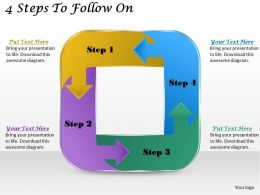 1113_business_ppt_diagram_4_steps_to_follow_on_powerpoint_template_Slide01