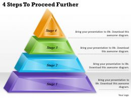 1113 Business Ppt diagram 4 Steps To Proceed Further Powerpoint Template