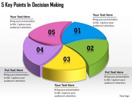 1113 Business Ppt diagram 5 Key Points In Decision Making Powerpoint Template