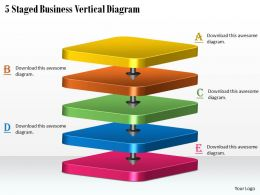 1113 Business Ppt Diagram 5 Staged Business Vertical Diagram Powerpoint Template