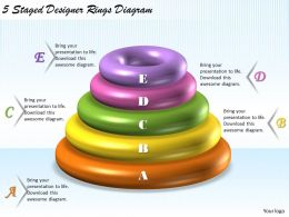 1113 Business Ppt Diagram 5 Staged Designer Rings Diagram Powerpoint Template