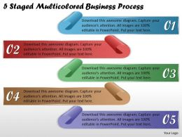 1113 Business Ppt Diagram 5 Staged Multicolored Business Process Powerpoint Template