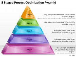 1113 Business Ppt diagram 5 Staged Process Optimization Pyramid Powerpoint Template
