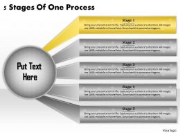 1113 Business Ppt diagram 5 Stages Of One Process Powerpoint Template