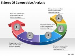 1113 Business Ppt diagram 5 Steps Of Competitive Analysis Powerpoint Template