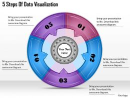 1113 Business Ppt diagram 5 Steps Of Data Visualization Powerpoint Template