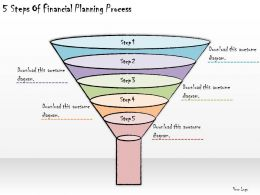 1113 Business Ppt Diagram 5 Steps Of Financial Planning Process Powerpoint Template