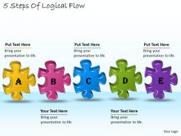 1113 Business Ppt diagram 5 Steps Of Logical Flow Powerpoint Template