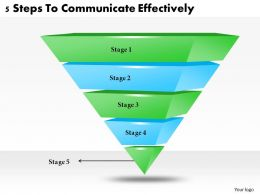 1113 Business Ppt diagram 5 Steps To Communicate Effectively Powerpoint Template