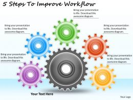 1113 Business Ppt diagram 5 Steps To Improve Workflow Powerpoint Template
