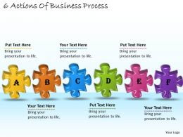 1113 Business Ppt diagram 6 Actions Of Business Process Powerpoint Template