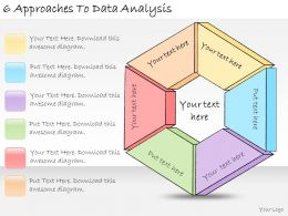 1113 Business Ppt Diagram 6 Approaches To Data Analysis Powerpoint Template