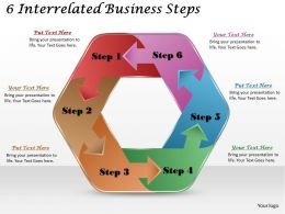 1113 Business Ppt diagram 6 Interrelated Business Steps Powerpoint Template