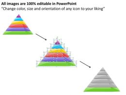 1113 Business Ppt diagram 6 Staged Pyramid Framework Powerpoint Template