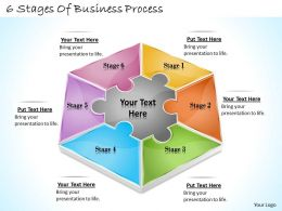 1113 Business Ppt diagram 6 Stages Of Business Process Powerpoint Template
