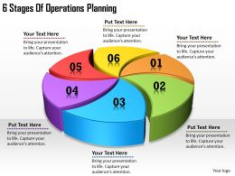 1113 Business Ppt diagram 6 Stages Of Operations Planning Powerpoint Template