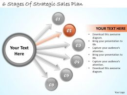 1113 Business Ppt diagram 6 Stages Of Strategic Sales Plan Powerpoint Template